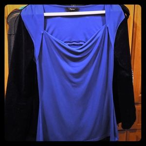 Blue express jersey top - under suit or for work!